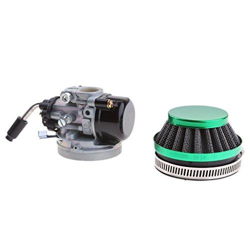 MagiDeal Carburetor 2 Stroke Pocket Rocket Dirt Bike Carb for 37-49cc Mini Quad - Green Air Filter ()