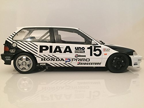 Amazon.com: Ikuso 1/18 TRIPLE 9 COLLECTION PIAA Civic EF9 1991 JTC Rd1 Sugo 300KM # 8 (2nd in the Grp3): Toys & Games