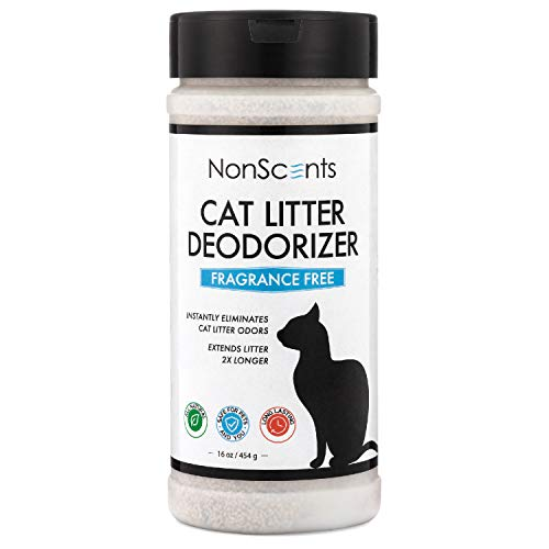 NonScents Odor Control Cat Litter Deodorizer - Professional Strength Odor Neutralizer, 16oz (Best Kitty Litter Box For Odor Control)
