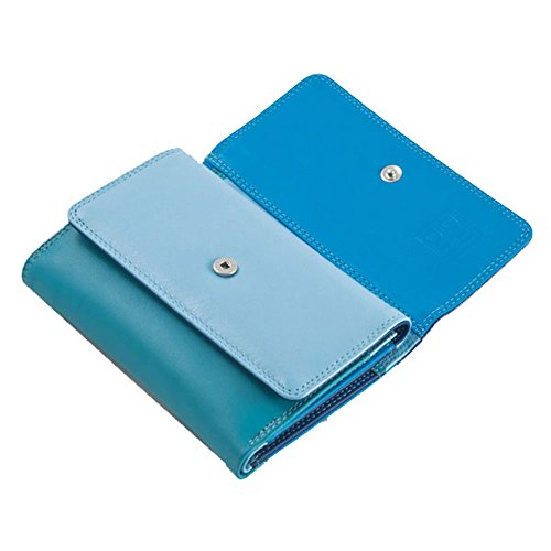 Wallet Color leather leather Dudu Colorful Blue Fiji Wallet Dudu Collection Fiji Colorful Color Dudu Blue Collection nIR6fqz