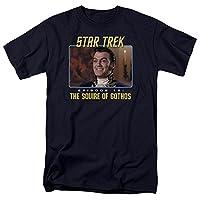 Trevco Men's Star Trek Short Sleeve T-Shirt, Squire Navy, Medium