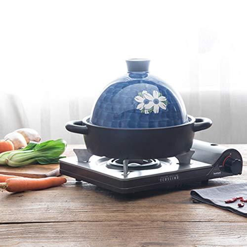 Blue Hand-painted Ceramic Casserole, Tagine, Stone Pot Stew Pot, 1.9L
