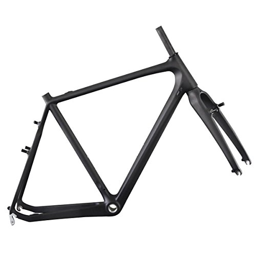 IMUST Carbon Cyclocross Road Bicycle Frameset with Fork BSA Cantilever Brake UD Matt 51/53/55/57cm