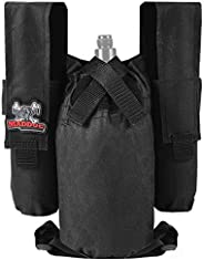 Maddog Entry Level Paintball Harness Pod Pack Belt with HPA CO2 Tank Holder Pouch | 2+1 | 4+1 | 6+1