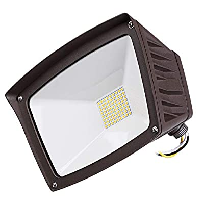 LEONLITE 40W LED Knuckle Mount Flood Light, 350W Eqv. Outdoor Flood Light, 4800lm Super Bright Wall Washer Security Light, IP65 Waterproof, 3000K Warm White, for Yard/Parking Lot/Patio: Home Improvement