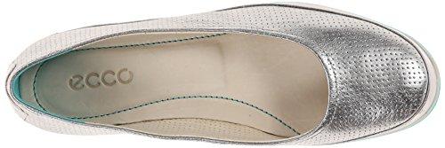 ECCO Delite Ballerina - Zapatos para mujer Silver