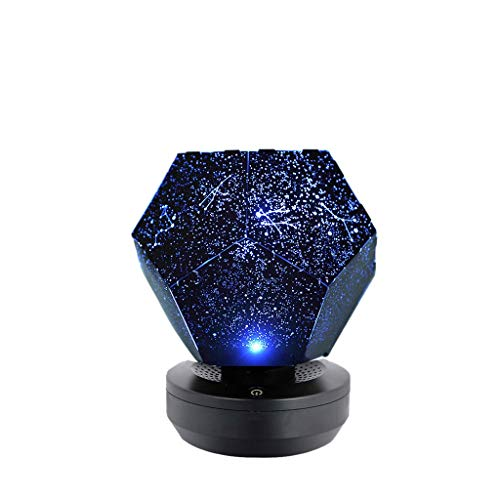 LARNOR 138X138X82mm Rotating Play Starry Sky Projection Lamp Stars Romantic Starry Lights (Blue, 138X138X82mm(Bule Light)) ()