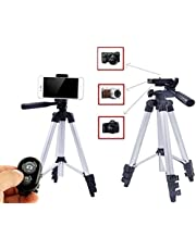 42 Inch Portable Aluminum Smartphone or Camera Tripod with Bluetooth Wireless Remote Control
