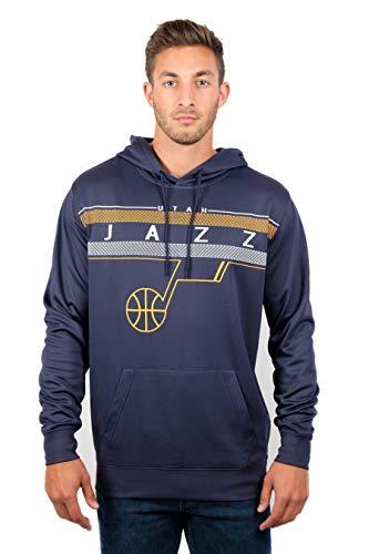 NBA Utah Jazz Men's Fleece Hoodie Pullover Sweatshirt Poly Midtown, X-Large, Navy ()
