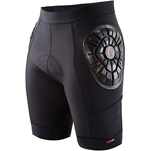 G-Form Men's Elite Bike Liner Short, Black Topo, Adult Large