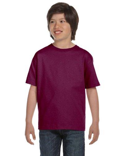 Hanes Boys' TAGLESS&reg, ComfortSoft&reg, Crewneck T-Shirt,X-Small, Maroon