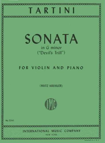 Tartini Giuseppe Sonata in g minor Devil's Trill Violin and Piano. by Fritz Kreisler International