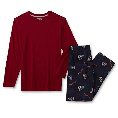 Joe Boxer Mens Long-Sleeve Pajama Shirt & Pants - Hockey Skulls (Medium) (Hockey Pjs For Boys)