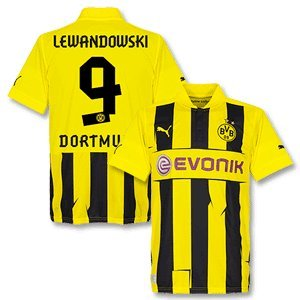 huge discount 160a0 65b53 12-13 Borussia Dortmund Champions League Shirt + Lewandowski ...