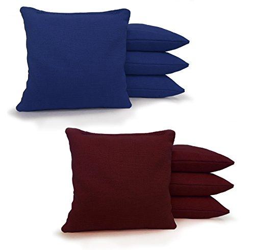 - Johnson Enterprises, LLC 8 Standard Corn Filled Regulation Duck Cloth Cornhole Bags! 17 Colors (You Pick)!! (Royal Blue/Maroon)