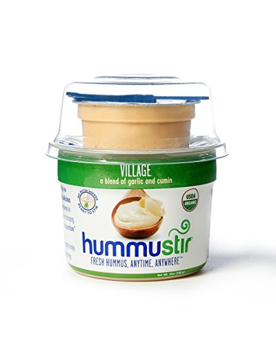 Organic Fresh Hummus, Garlic & Cumin (Pack of 6, 12oz)