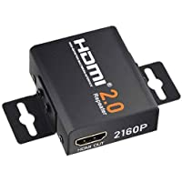 COWEEN HDMI 2.0 Repeater 4K x 2K 2160P 18Gbps Bandwidth HDMI2.0 Booster Support 3D 1080P HDMI Signal Amplifier Female to Female Up to 60m / 200ft Lossless Transmission