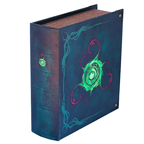Grimoire Deck Box Locus - Wooden Spellbook Style Large Capacity Trading Card Deck Storage (800 to 1000 Cards) for MTG Magic the Gathering, Yugioh, Pokemon | Gift Item for Commander, Edh, Modern