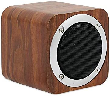 SEVIZ Mini Retro Wireless Bluetooth Speaker, 10W Stereo Sound, Bluetooth 5.0 with 5 Hours Playback, Portable Speaker, for Home, for Outdoor, for Travel, FM Radio, 10m Wireless Range, Wooden Speaker