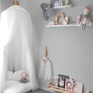 Bulawlly Letto a baldacchino per Letto Matrimoniale e Singolo, della Tenda Bianca Universale Dome zanzariera zanzara della Rete della Maglia con Adesivo Hook 8 spesavip