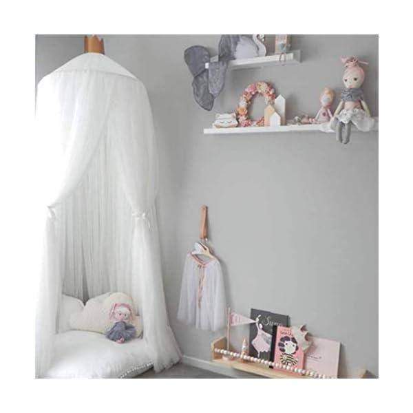 Bulawlly Letto a baldacchino per Letto Matrimoniale e Singolo, della Tenda Bianca Universale Dome zanzariera zanzara… 1 spesavip