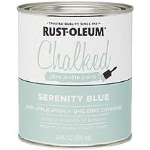Rustoleum 285139 30 Oz Serenity Blue Chalked Ultra Matte Paint