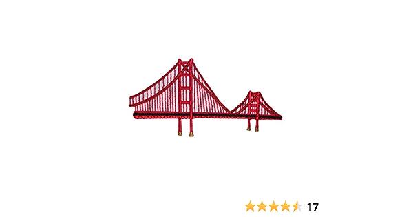 Golden Gate Bridge San Francisco Iron On Embroidery Patch MTCoffinz