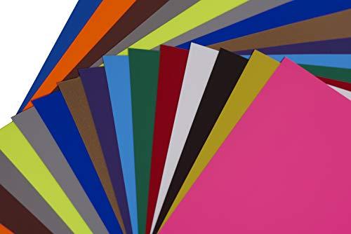 "Handy Crafts 12"" x 10"" Heat Transfer Vinyl HTV Iron On Sheets | 20 Pack of Assorted Colors Plus 1 Bonus Teflon Sheet"