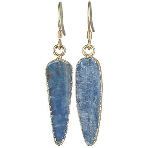 rockcloud Crystal Stone Dangle Hook Earrings Rhombus/Teardrop Gold Plated