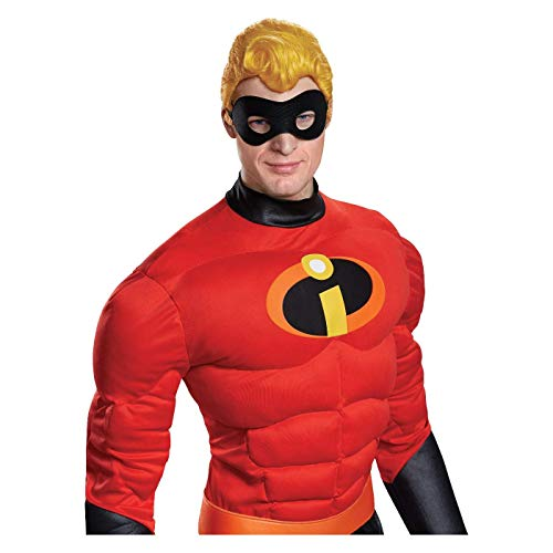 Disguise Men's The Inredibles Mr. Incredible Halloween Costume Wig -