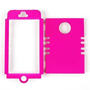 Cell Armor Snap-On Case for iPhone 4/4S - Retail Packaging - Fluorescent Solid Hot Pink