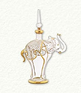 bd183ed8 Amazon.com: Clear and Gold Elephant Egyptian Blown Glass Perfume ...