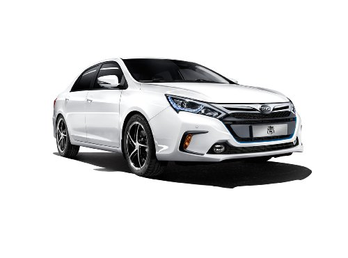 byd-qin-hybrid-2014-car-art-poster-print-on-10-mil-archival-satin-white-front-side-studio-view-25x15