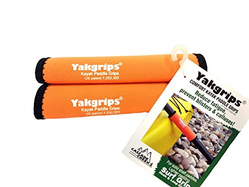 Yakgrips® Orange Non-Slip Soft Kayak Canoe Paddle Grips
