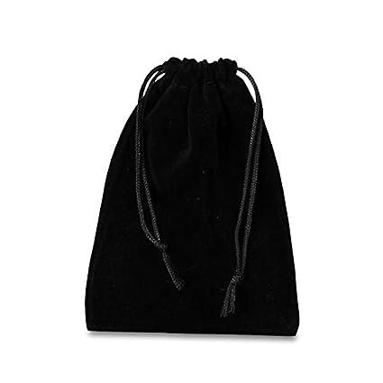 Amazon.com: Joya de encaje negro de terciopelo bolsas ...