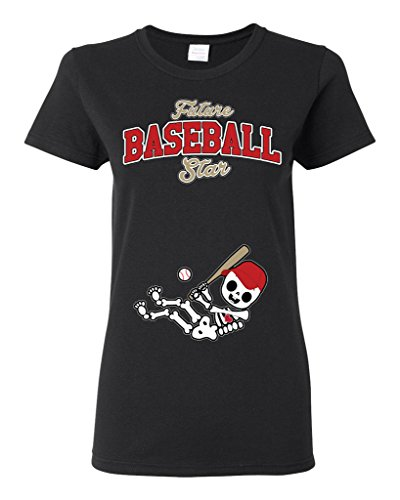 Future Baseball Star Arizona Baby Fan Sports Ball Ladies DT T-Shirt Tee (Small, Black) Arizona Ladies Player Series