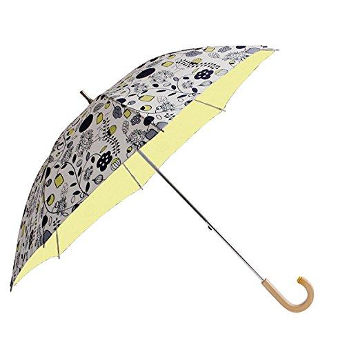 コルコ ショートスライド式 全8柄 長傘 手開き 日傘/晴雨兼用 大好きなガーデン 8本骨 50cm 中棒伸縮傘 UVカット 木製ハンドル 81088 B01CQHRPLQ大好きなガーデン