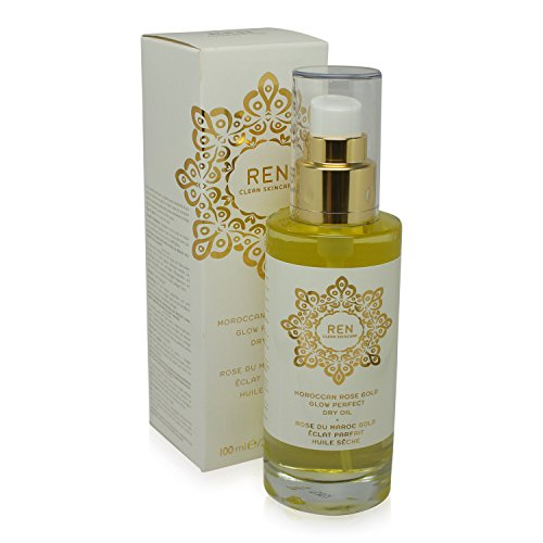 REN Moroccan Rose Gold Glow Perfect Dry Oil, 3.3 Ounce (Moisturizer Ren Rose)