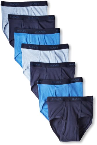 Hanes Ultimate Men's FreshIQ ComfortSoft Briefs (7 Pack), Blues, Large ()
