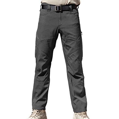 FREE SOLDIER Men's Tactical Pants Scratch-Resistant Multi-Pockets Duty Work Pants Breathable Lightweight Pants (Gray, (Gray Lightweight Tactical Pants)