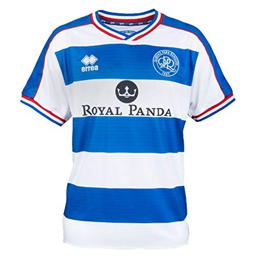 負荷ステッチ同等のErrea 2018-2019 QPR ホームフットボールシャツ
