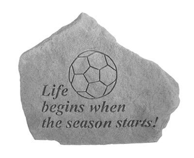 fan products of Kay Berry- Inc. 70204 Soccer-Life Begins When The Season Starts - Great Thoughts - 5.25 Inches x 5 Inches