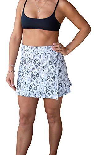 RipSkirt Hawaii - Length 1 - Quick Wrap Athletic Cover-up That Multitasks as The Perfect Travel/Summer Skirt - Big Beach Grey