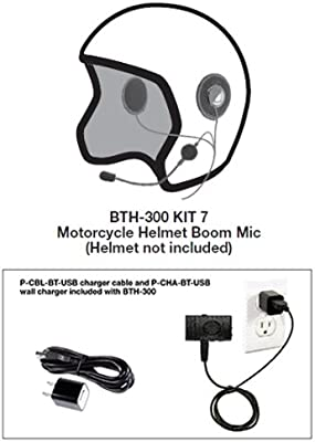 Amazon com: Pryme BTH-300-KIT7 BT Mic with Motorcycle Helmet