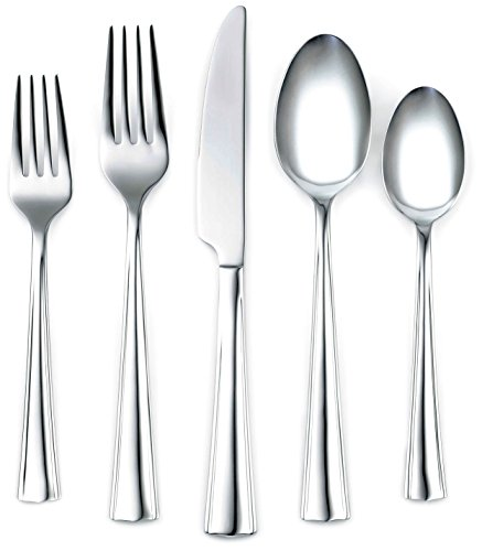 Corelle Coordinates Ruth Mirror 20-Piece Flatware Set, Service for 4