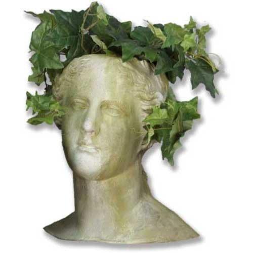 Venus Head Planter Fiber Stone Flower Pot for House and Garden Plants