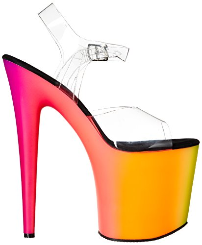 Pleaser RAINBOW-808UV Clr/Neon Multi Size UK 3 EU 36
