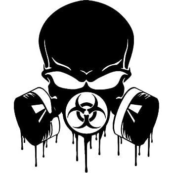 Amazon Com Jeep Wrangler Hood Decal 18 Quot Gas Mask Punisher