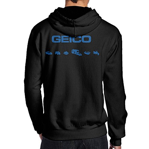 [SAMMOI GEICO 400 Men's Hooded Sweatshirt L Black] (Costumes Starting With L)