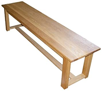 Handmade Solid Oak Dining Table Bench Seat